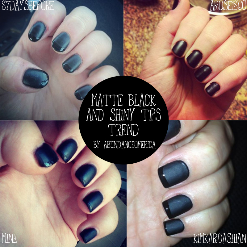 Abundance of Erica: NOTD: Matte Black & Shiny Tips