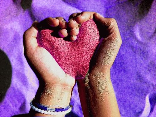 Sand Heart Wallpaper