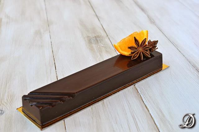 Turrón de Chocolate, Sablée Bretón, Mandarina y Anís