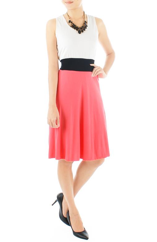 Lady Fleur Flare Dress – Salmon Pink