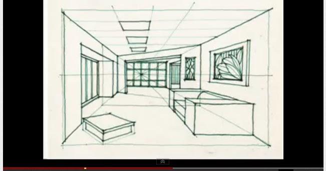 Aula de pl stica aprende a dibujar la perspectiva de una habitaci n - Habitacion en perspectiva conica ...