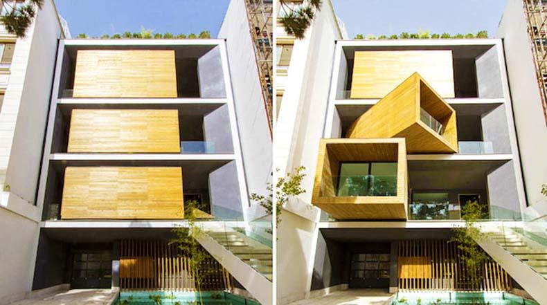 Vivienda urbana presenta habitaciones móviles controladas por un botón