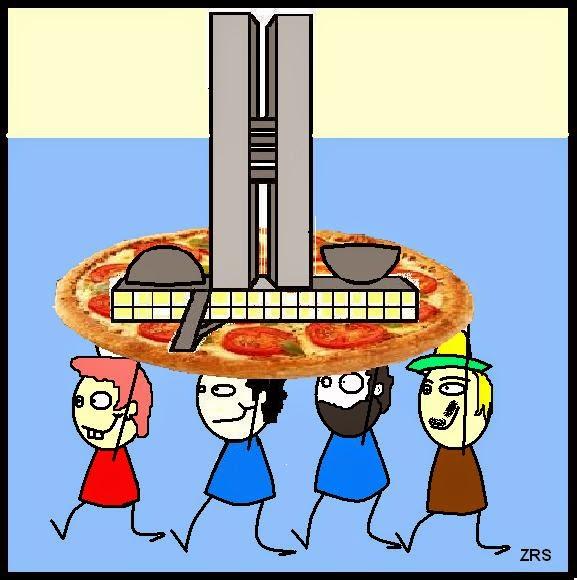 Como sempre no Brasil, tudo acaba em Pizza.