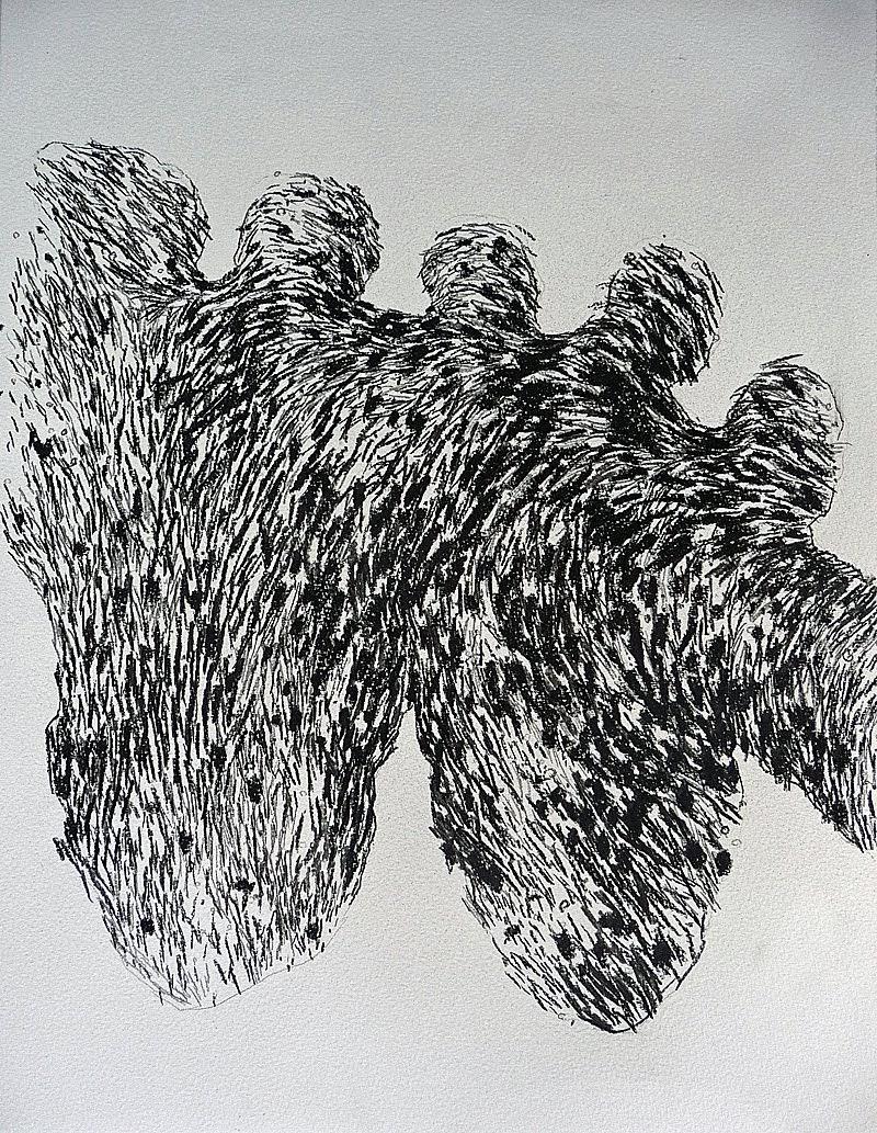 fusain / papier 41 x 32 2013