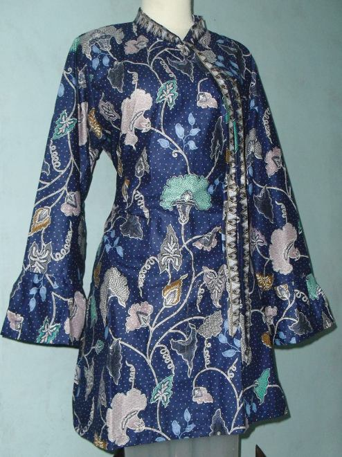 tunik batik rosti08 rp 100 000 bahan kain katun batik printing mode ...