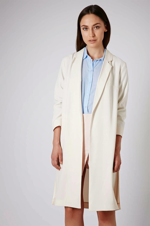 cream longline coat
