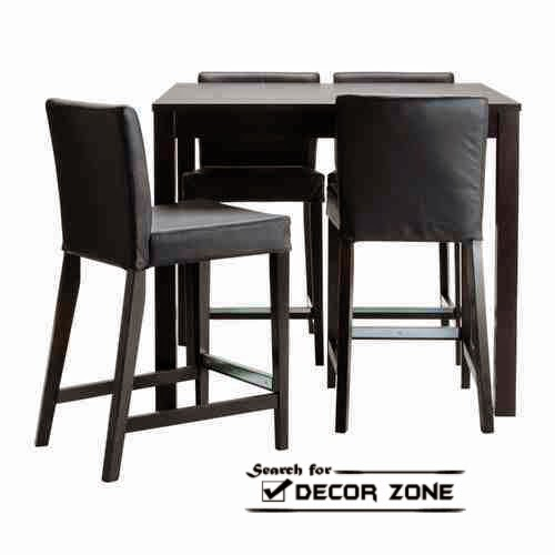 small kitchen table sets with upholstered chairs