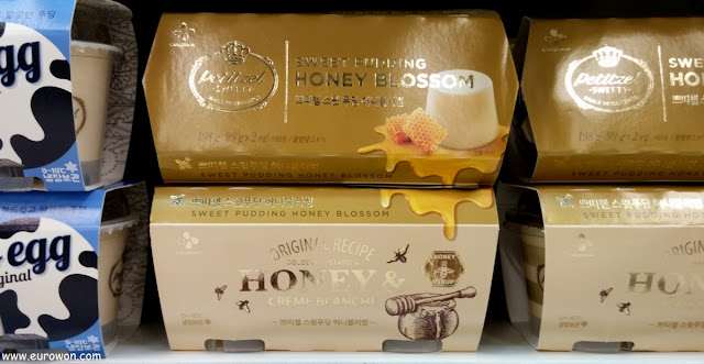 Pudin coreano con miel