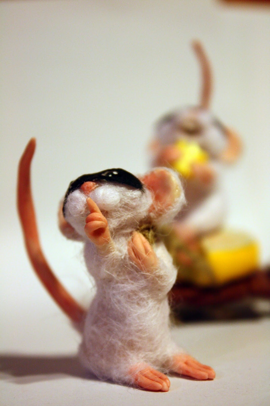 ooak mouse mice topo polimery clay miniature animal handmade