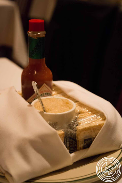 Image of Tabasco and horseradish at Ben and Jack's steakhouse in Murray Hill NYC, New York