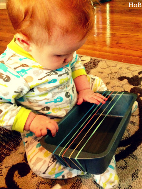 Sensory play activites for babies growing a jeweled rose for Diy music projects