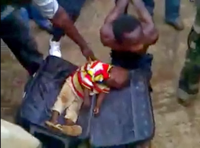 ritualist kills 2 year old boy for money ritual in Nigeria and put dead body in travelling box