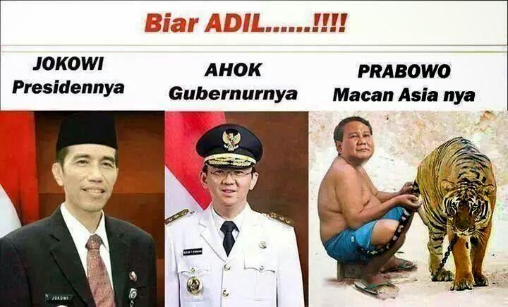 Foto Lucu Prabowo dan Jokowi