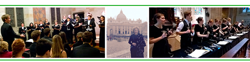 Penn State Choir and Concordia Handbells in Australia, Joan Catoni Conlon in Rome