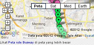 Peta Jalur dan Halte Busway