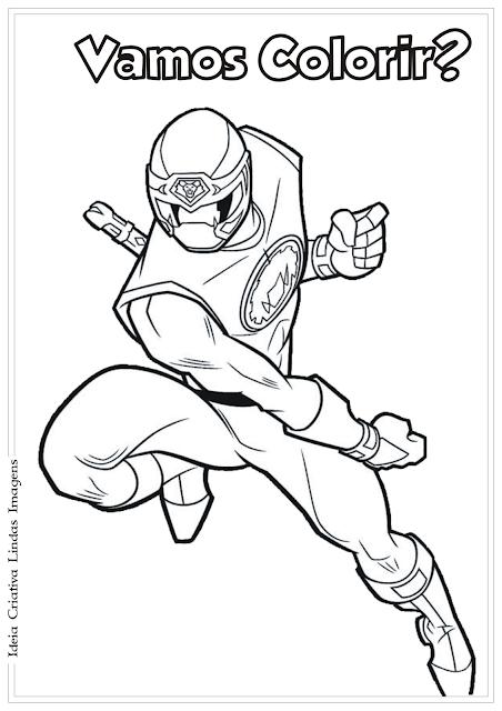 Power Rangers desenho para colorir