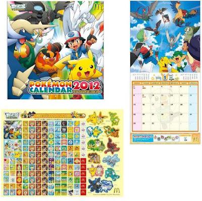 Pokemon 2012 Calendar McDonald's JP