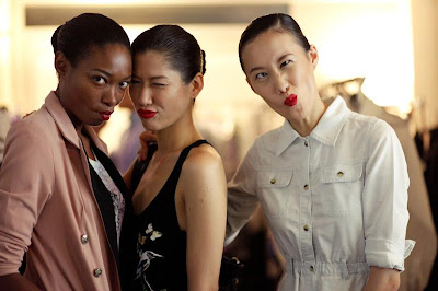 Models backstage at Digital Fashion Week Singapore