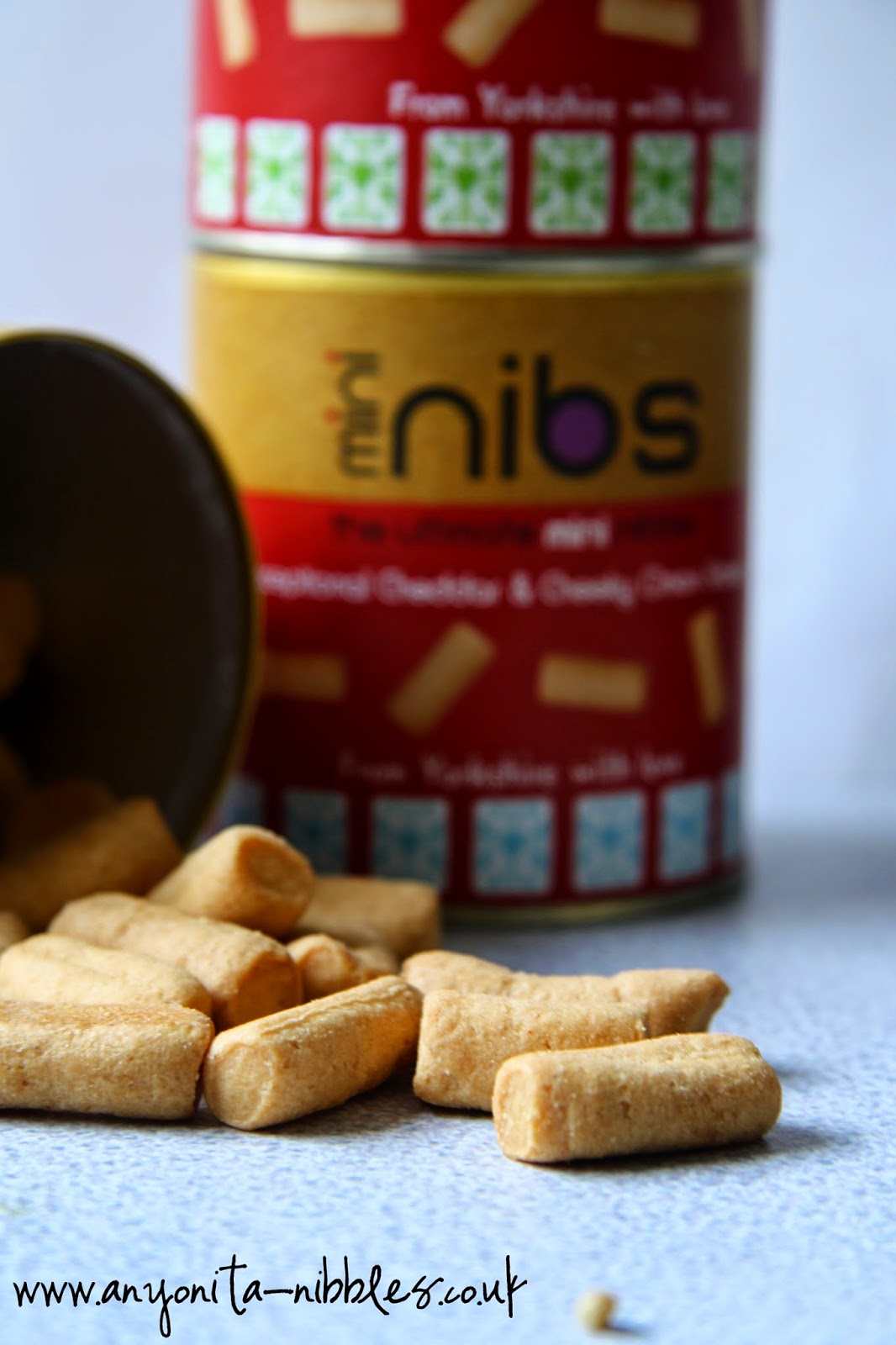 Perfectly bite sized Mini Nibs snacks from Nib Nibs | www.anyonita-nibbles.co.uk