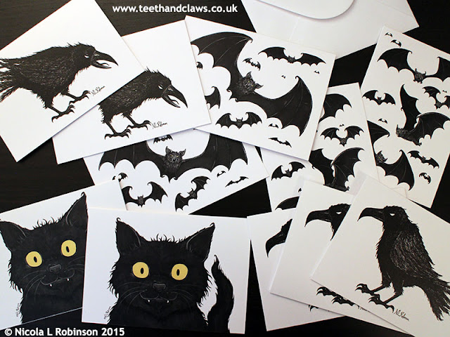 Halloween Cards © Nicola L Robinson 2015 www.teethandclaws.co.uk