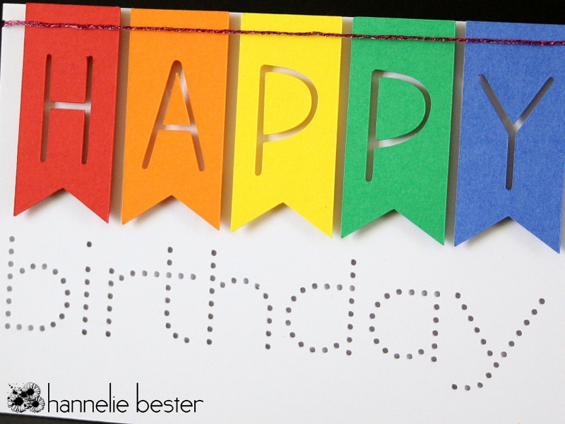 rainbow banner happy birthday