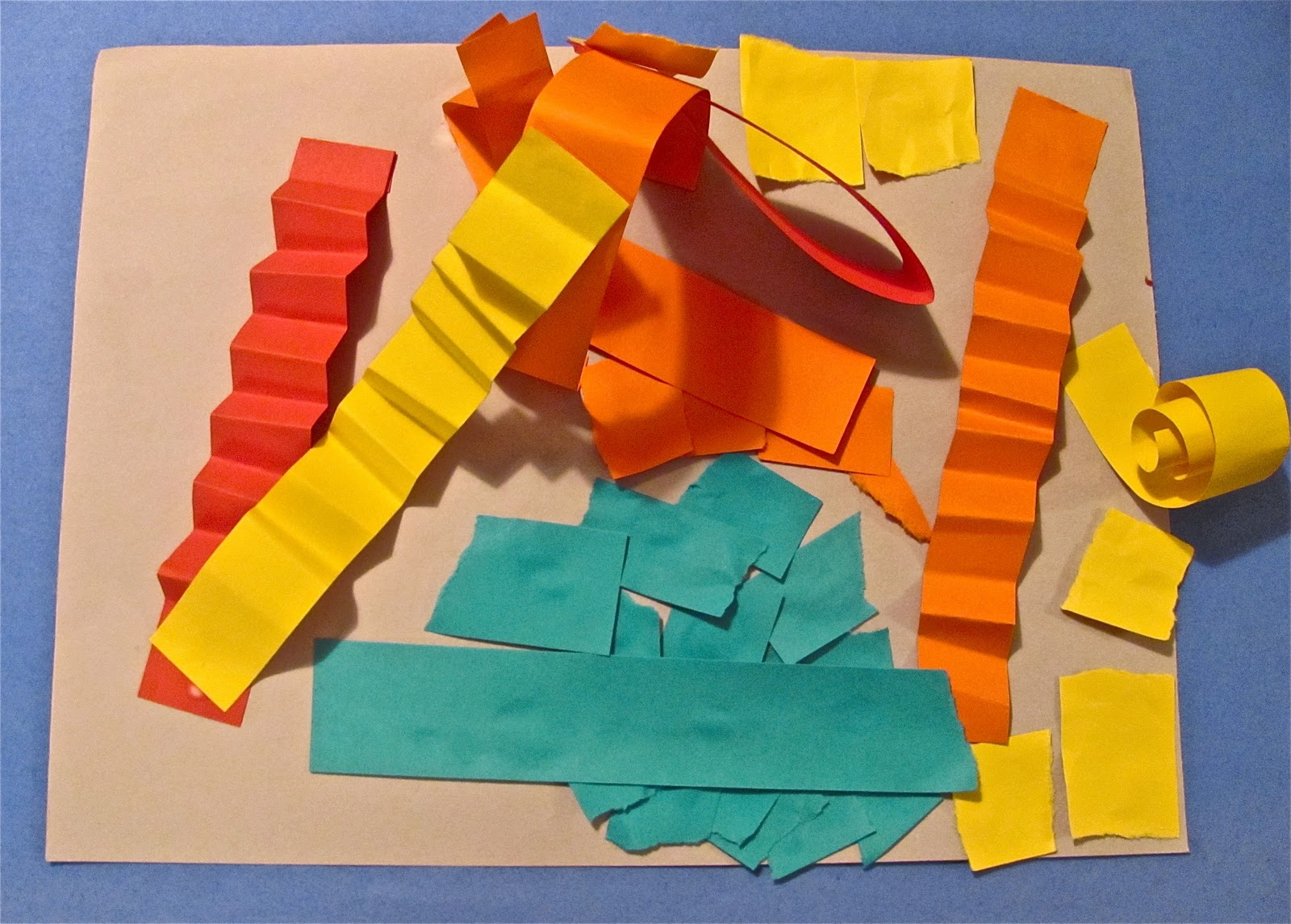 the chocolate muffin tree: construction paper strip sculpture