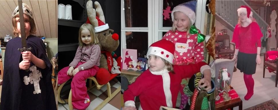 Joulun aikaan lapsilla riittää mukavaa puuhaa.
