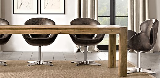 Parsons Reclaimed Russian Oak Dining Table With Devon Chairs