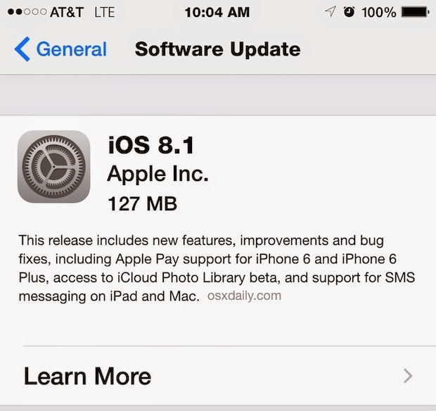 iOS 8.1 Download