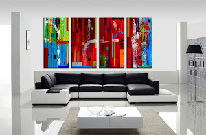 "Abstract Painting ""A Vibrant World 2"" by Dora Woodrum"