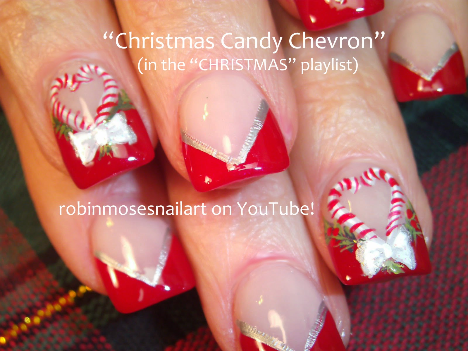 Christmas nail art diy xmas nails easy holiday nail art