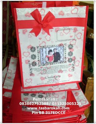 ... ini undangan nikah bentuk tas berkat kotak undangan nikah tampak depan