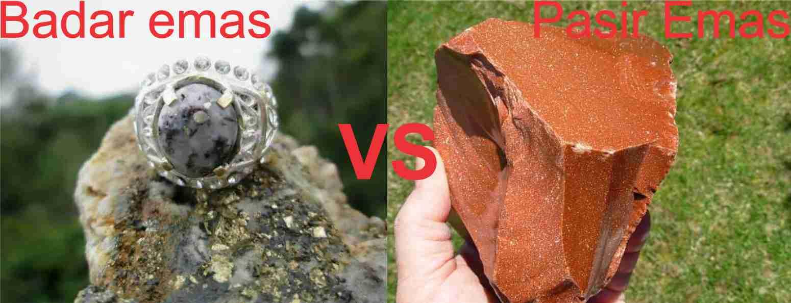 Cara membedakan badar emas dan pasir emas
