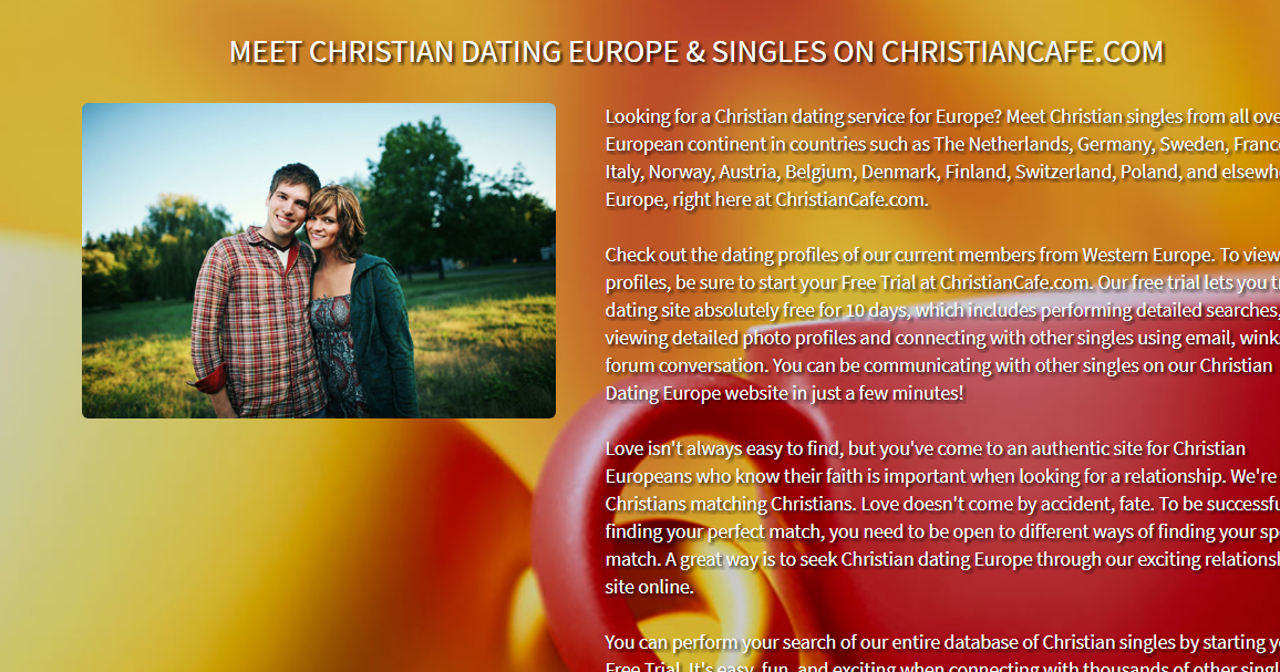 Free christian dating in europe