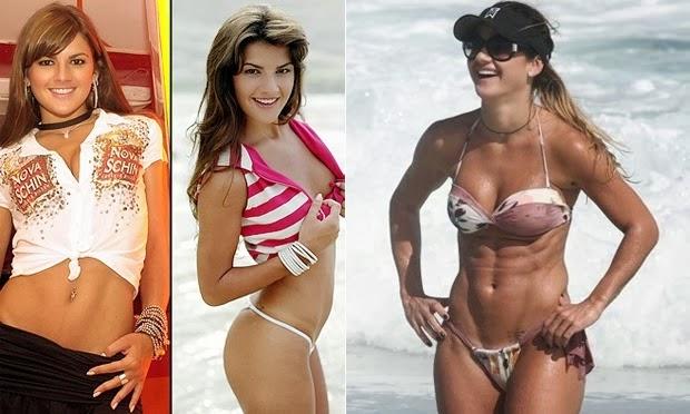 Mirella Santos: Antes e depois