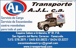 TRANSPORTE A.J.L C.A. en Paginas Amarillas tu guia Comercial