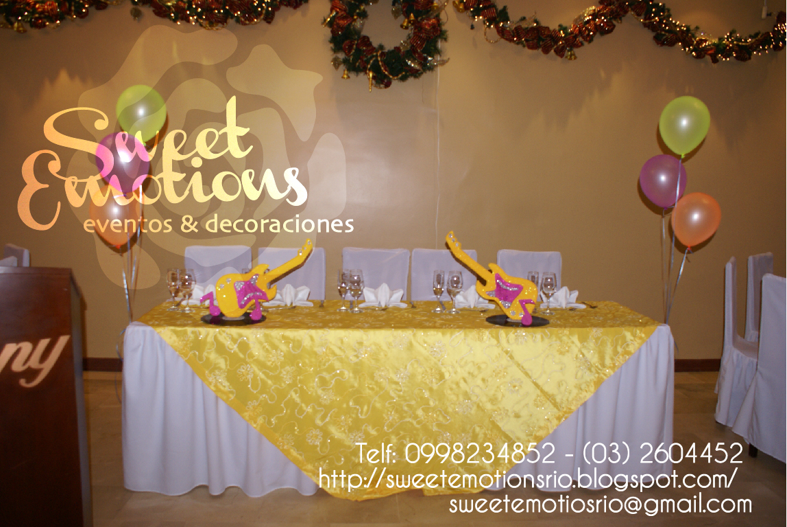 Sweet emotions decoraci n fiesta de 50 a os - Decoracion anos 50 ...