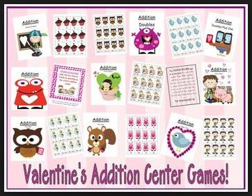 https://www.teacherspayteachers.com/Product/Valentines-Addition-Center-Games-Nine-Concepts-192691