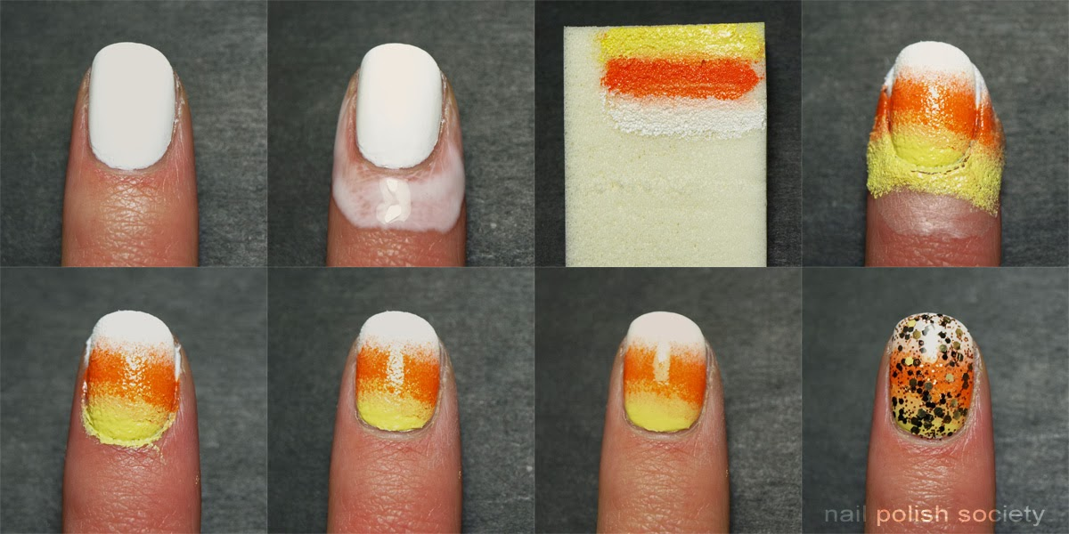 Nail Polish Society Tutorial Candy Corn Nail Art