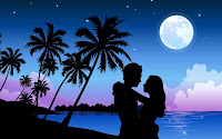 papel de parede paraíso romântico