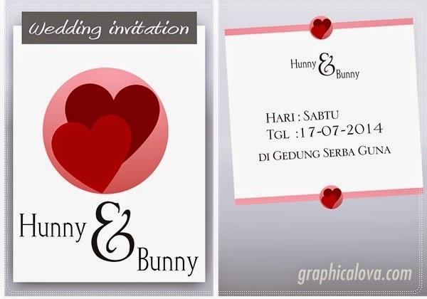 kartu undangan pernikahan vector gratis download