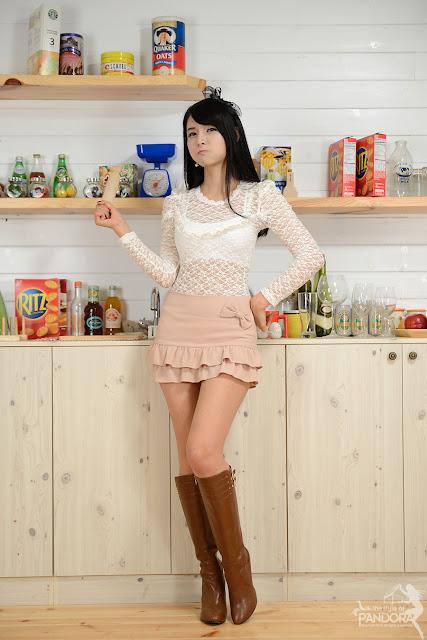 Cha Sun Hwa Sexy in Kitchen