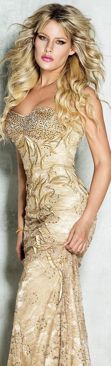 Golden craft maxi dress for ladies