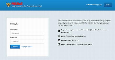 PNSMail: Layanan Email Untuk Pegawai Negeri Sipil