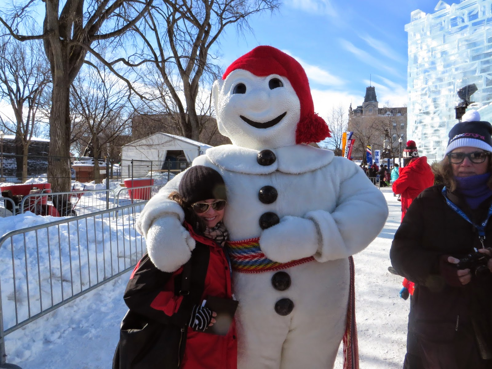Bonhomme, travel, traveling cynthia, snowman, blog, snow, travel tips, winter, quebec winter, Canada