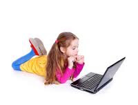 this is a picture of a child playing on a computer.