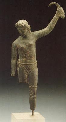 Estátua de gladiadora no Museu de Arte de Hamburgo