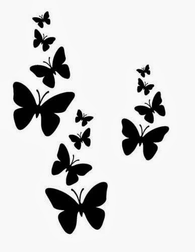 Butterflies tattoo stencil