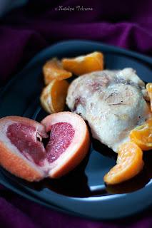 Курица с мандаринами под апельсиновым соусом