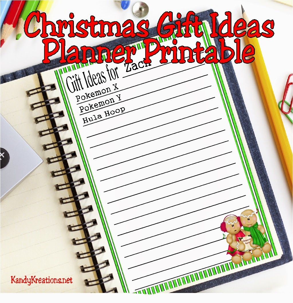 Help your Christmas run a little smoother by using this planner printable to gather Christmas gift ideas throughout the year.  Whenever your child makes a Christmas gift wish or you see a good idea, write it down on this printable and you'll have the perfect Christmas gift to save you stress.